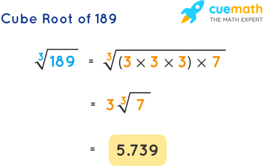 Cube Root of 189