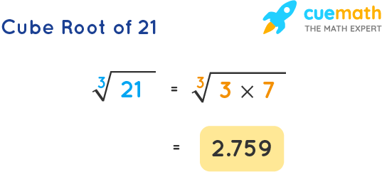 Cube Root of 21