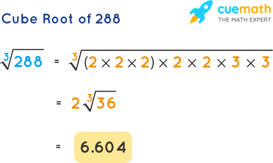 Cube Root of 288