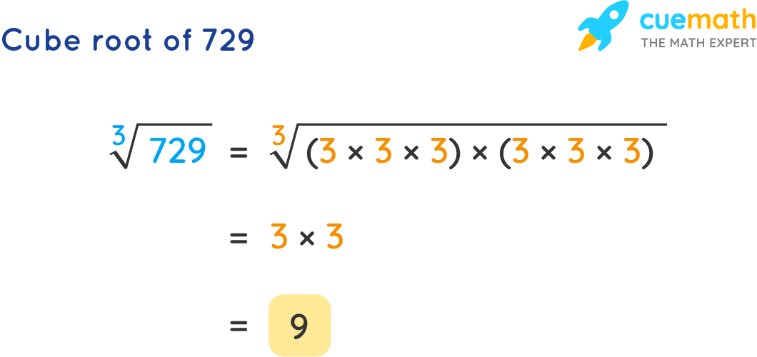 Cube Root of 729