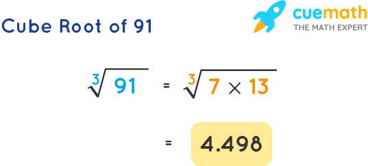 Cube Root of 91