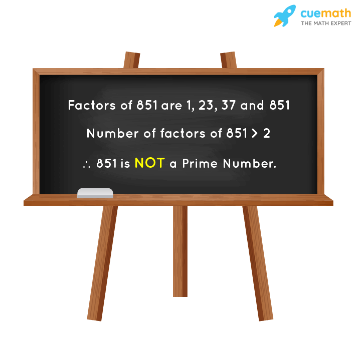Is 851 a Prime Number?