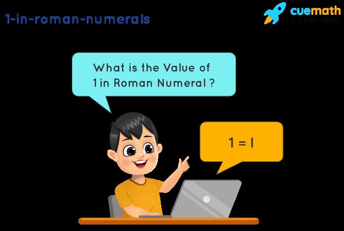 1 in Roman Numerals