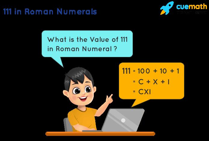 111 in Roman Numerals