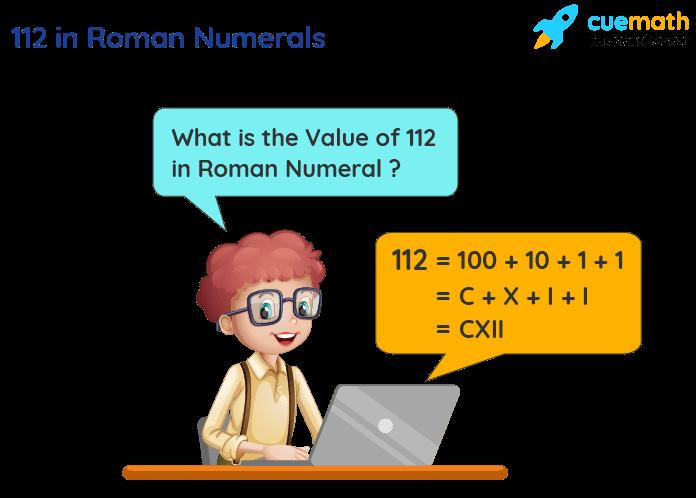 112 in Roman Numerals