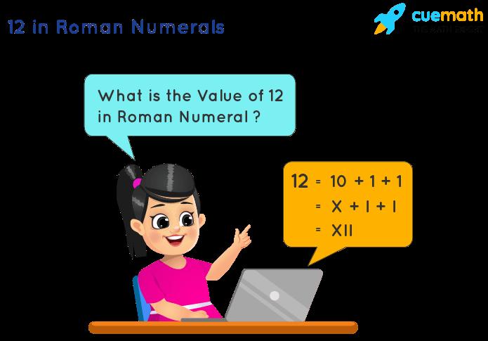 12 in Roman Numerals
