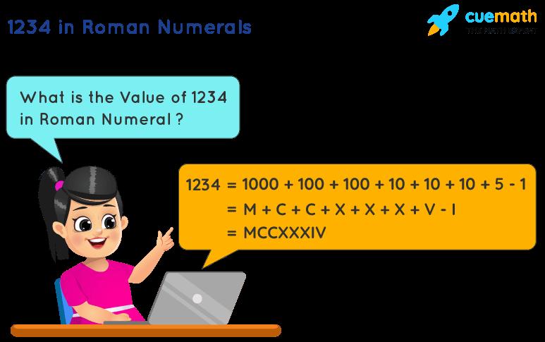 1234 in Roman Numerals
