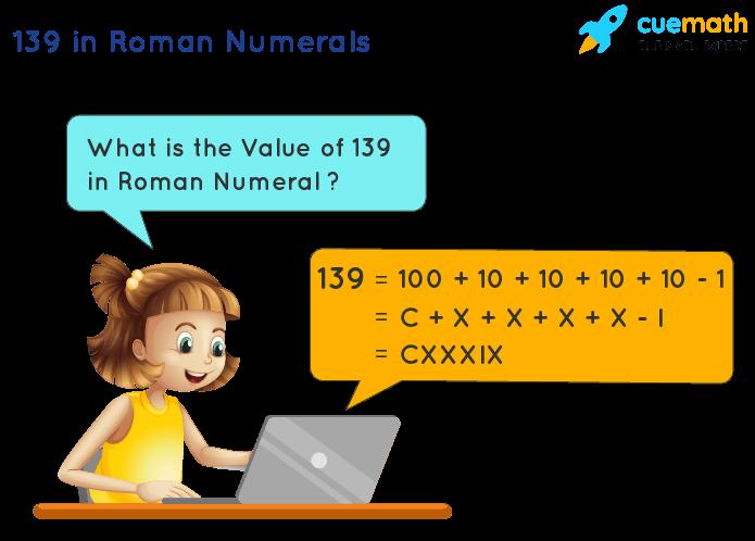 139 in Roman Numerals