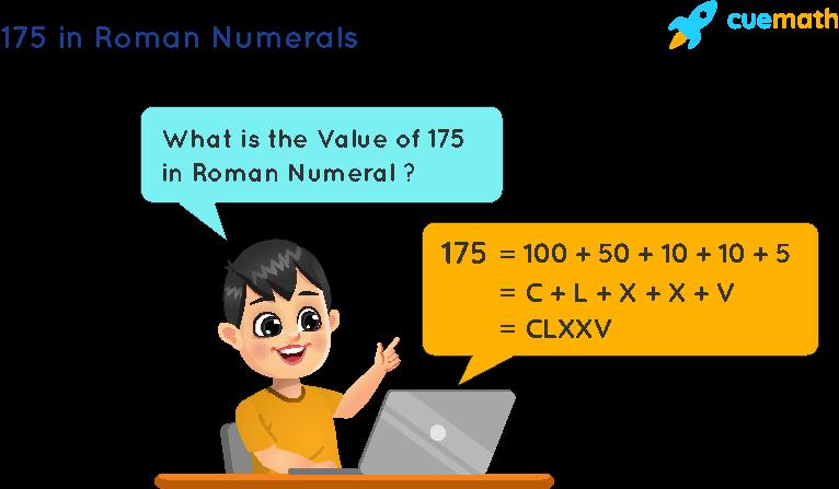 175 in Roman Numerals