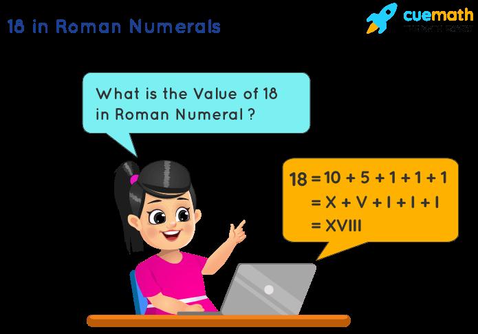18 in Roman Numerals