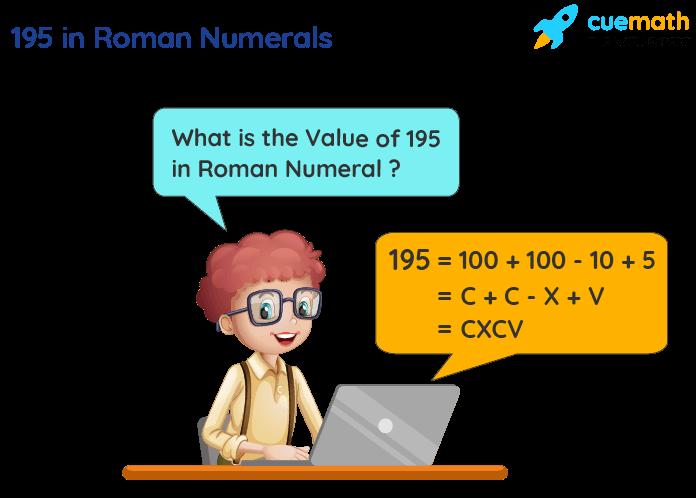 195 in Roman Numerals