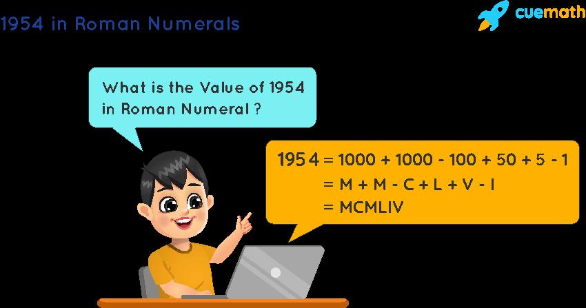 1954 in Roman Numerals