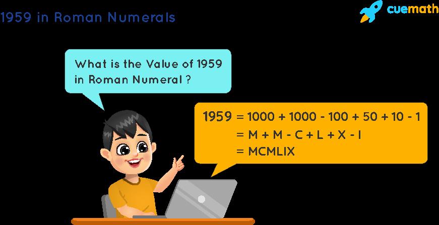 1959 in Roman Numerals