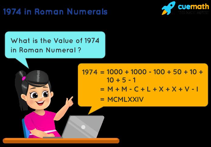 1974 in Roman Numerals