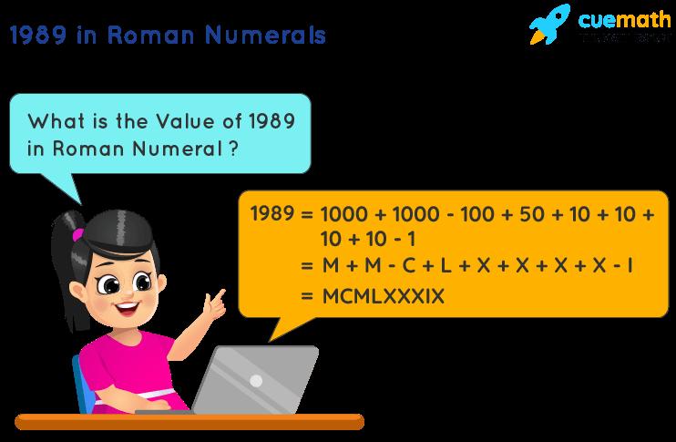 1989 in Roman Numerals