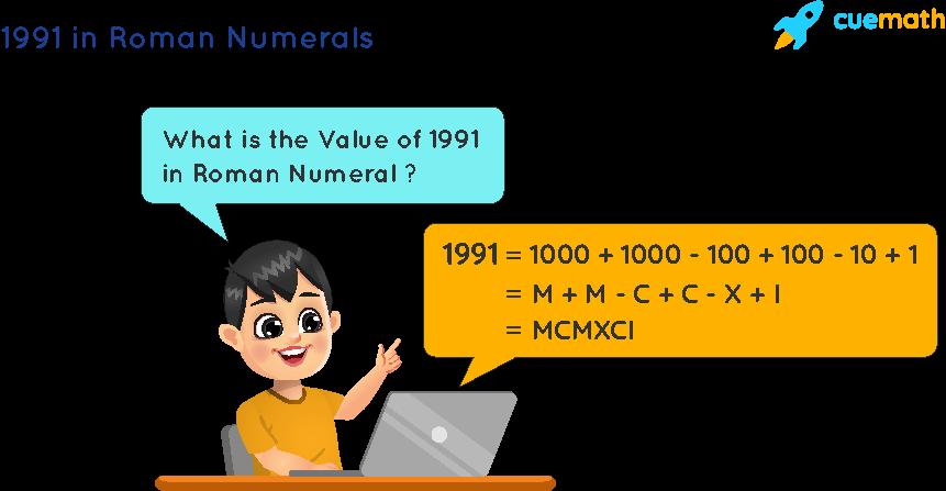 1991 in Roman Numerals