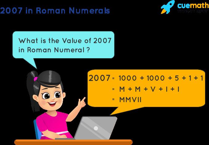 2007 in Roman Numerals