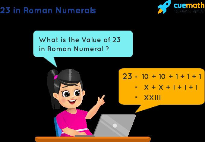 23 in Roman Numerals