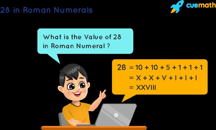 28 in Roman Numerals