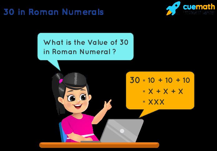 30 in Roman Numerals