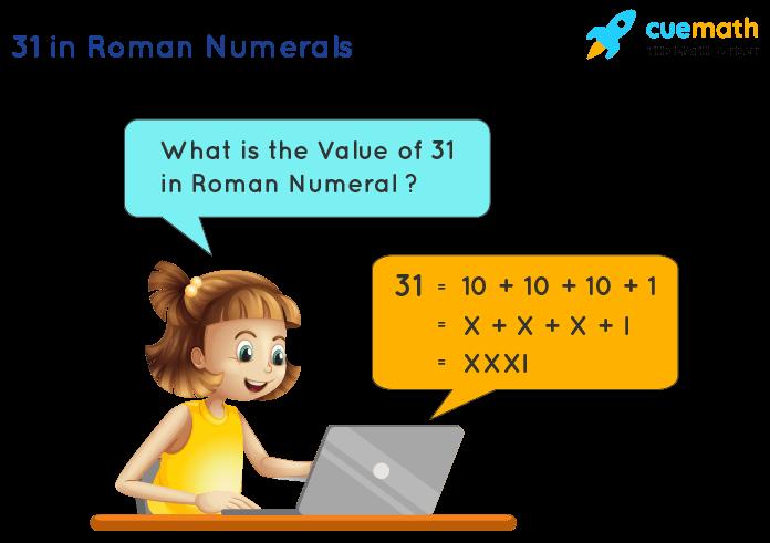 31 in Roman Numerals