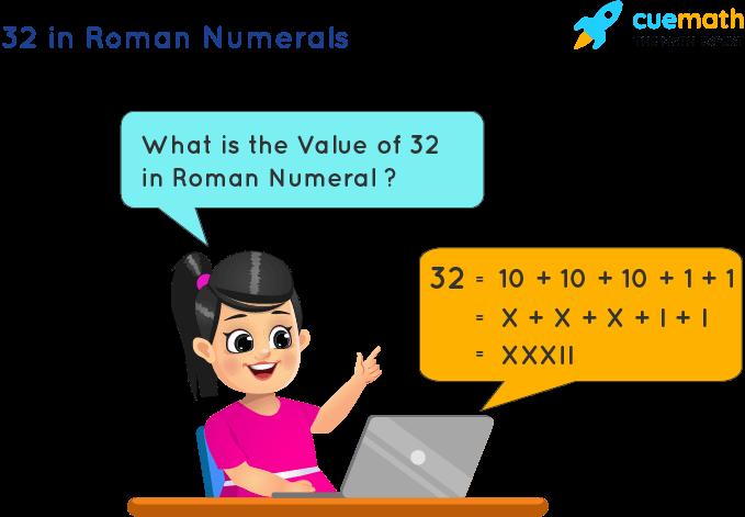32 in Roman Numerals