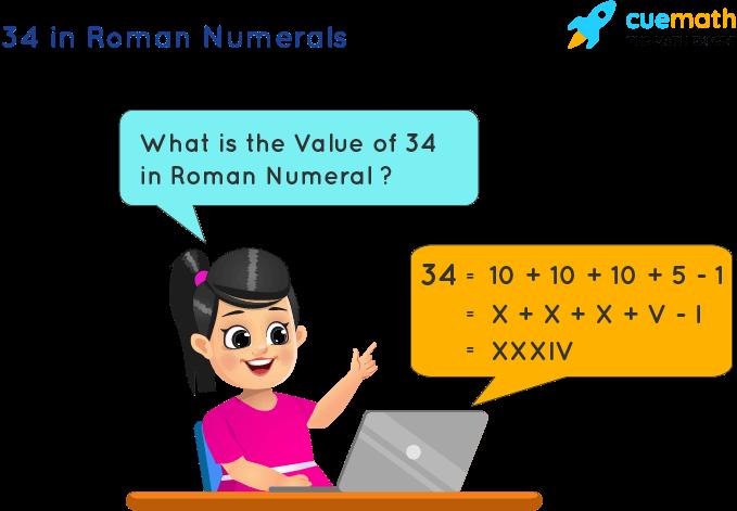 34 in Roman Numerals