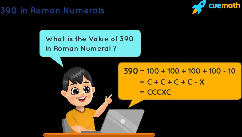 390 in Roman Numerals