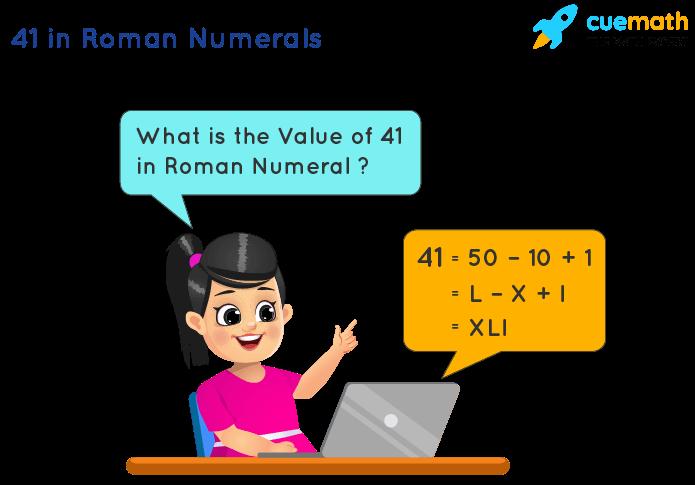 41 in Roman Numerals