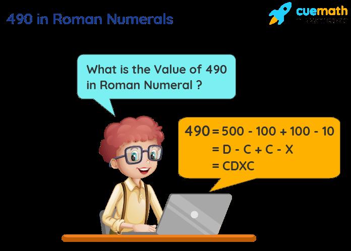 490 in Roman Numerals