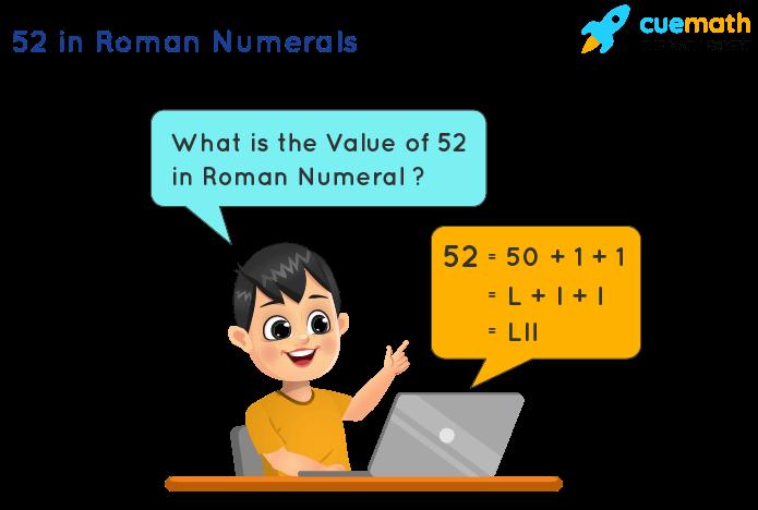 52 in Roman Numerals