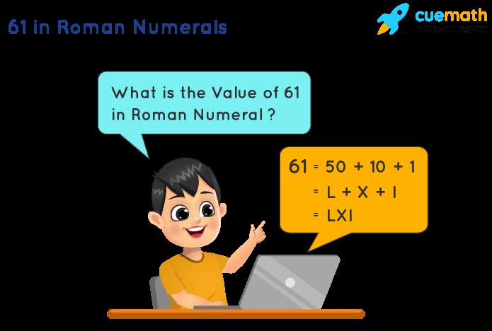 61 in Roman Numerals