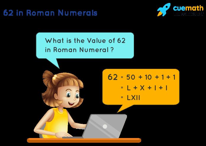 62 in Roman Numerals