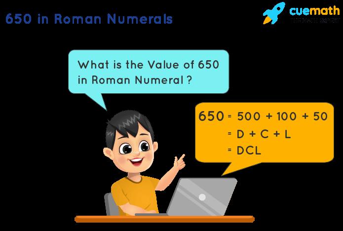 650 in Roman Numerals