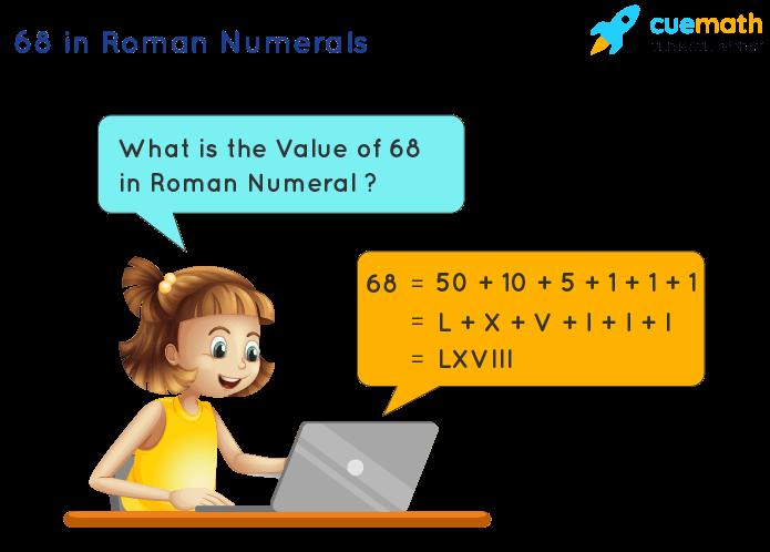 68 in Roman Numerals