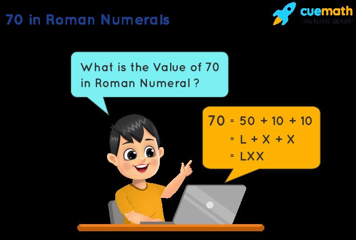 70 in Roman Numerals