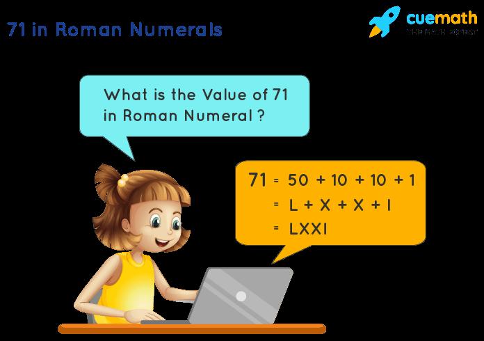 71 in Roman Numerals