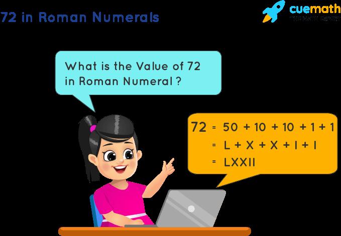 72 in Roman Numerals