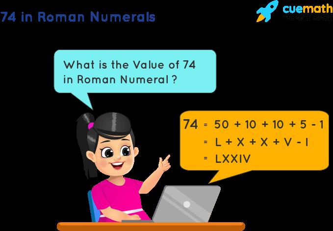 74 in Roman Numerals