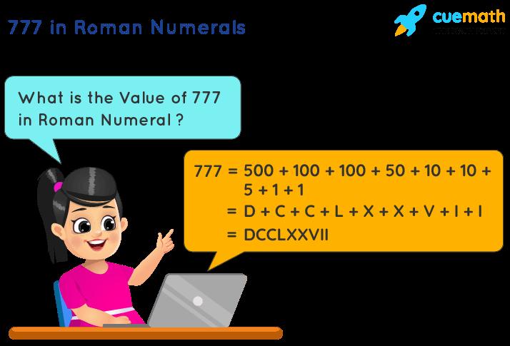 777 in Roman Numerals
