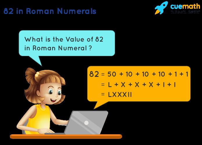82 in Roman Numerals