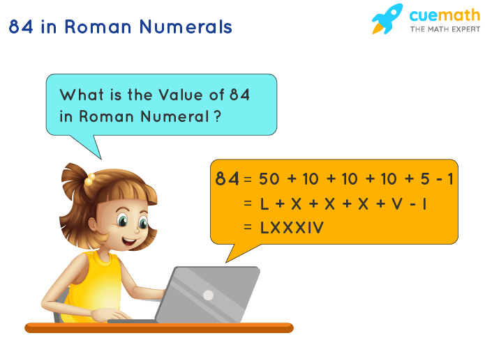 84 in Roman Numerals