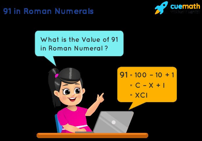 91 in Roman Numerals