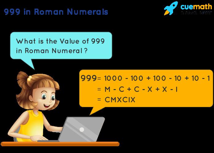 999 in Roman Numerals