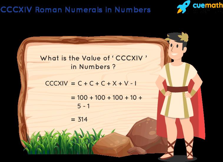CCCXIV Roman Numerals