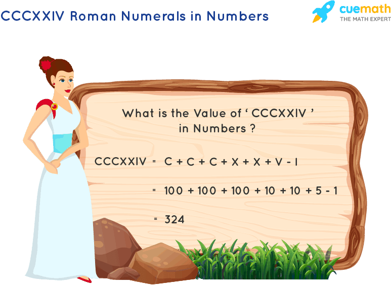 CCCXXIV Roman Numerals