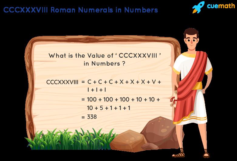CCCXXXVIII Roman Numerals