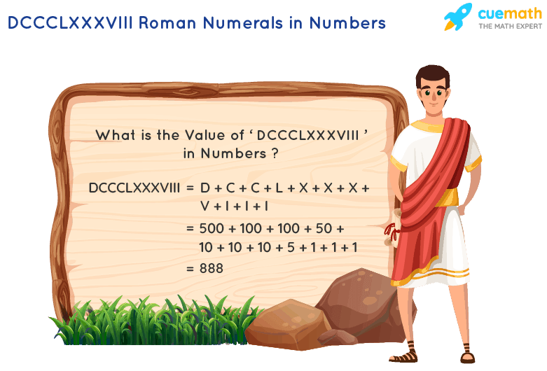 DCCCLXXXVIII Roman Numerals