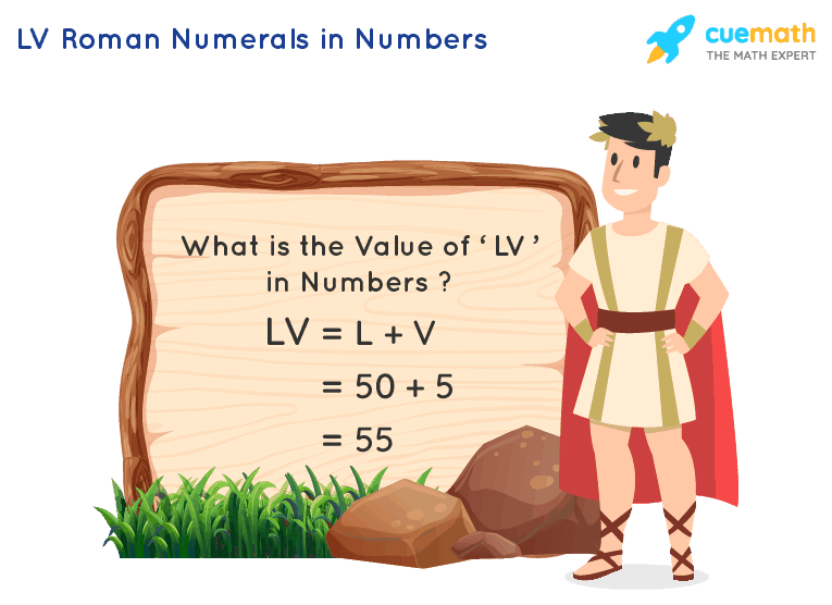 LV Roman Numerals