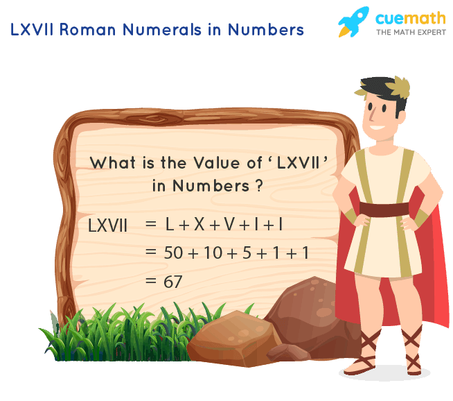 LXVII Roman Numerals